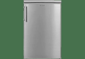 EXQUISIT KS16-4-HE-040D Kühlschrank (D, 855 mm hoch, Inoxlook)