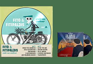 Fito Y Fitipaldis - Cada Vez Cadáver + 20 Años Y Una Noche - LP + DVD