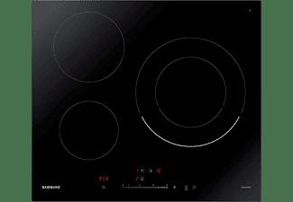 Encimera - Samsung NZ63R3727BK/UR, Inducción, Eléctrica, 3 zonas, Power Boost, Negro