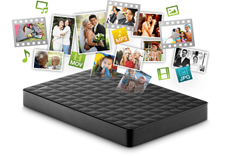 SEAGATE 1TB Externe Festplatte Expansion+ Portable, schwarz (STEF1000401)