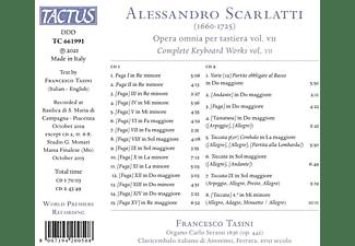 Francesco Tasini - OPERA OMNIA PER TASTIERA - COMPLETE KEYBOARD WORKS  - (CD)