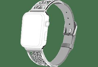 TOPP Armband für Apple Watch 38/40mm Metal Flowers, Silver