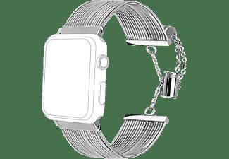 TOPP Armband für Apple Watch 38/40mm Metal Waterfall, Silver
