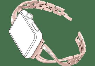 TOPP Armband füt Apple Watch 38/40mm Metal Crystals, Roségold