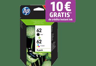 Cartucho de Tinta - HP 62, 2 Pack Negro/Tri-color, N9J71AE