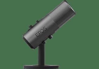 EPOS B20 Streaming Mikrofon, USB-C/3.5mm, 48kHz/24Bit, Niere/Kugel, Grau