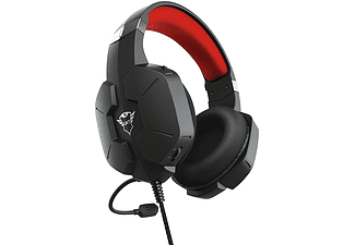 Auriculares gaming - Trust GXT 323 Carus , Con cable, Jack de 3.5 mm, Micrófono, Negro