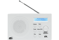 OK. ORD 101 BT-WT 1 Tragbares Digitalradio, FM, DAB+, DAB, Bluetooth, Weiß