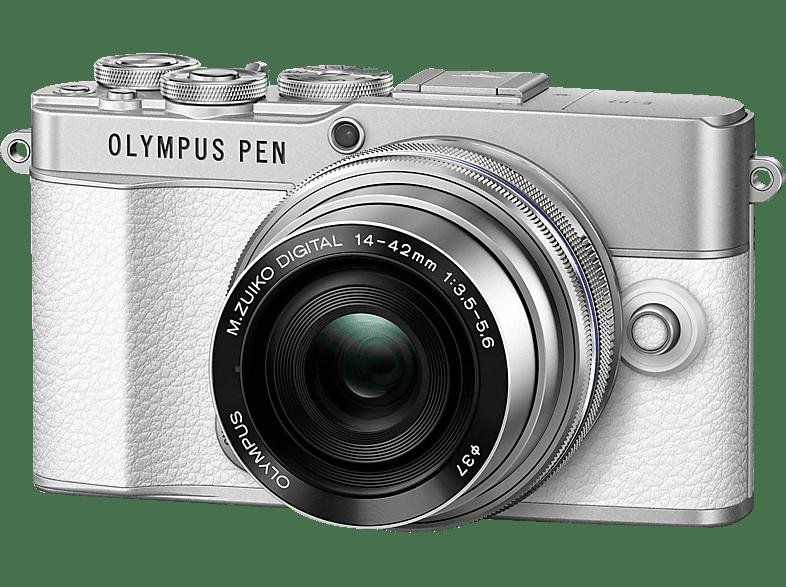 OLYMPUS E-P 7 Kit Systemkamera mit Objektiv 14-42 mm, 7,6 cm Display Touchscreen, WLAN