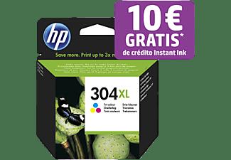 Cartucho de tinta - HP Original 304XL, Tricolor, N9K07AE