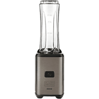 Batidora de vaso - Black+Decker BXJBA350E, 350 W, 600 ml, Acero Inoxidable, Gris