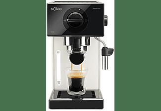 Cafetera espresso - Squissita Easy Ivory Solac CE4505, 20bar, 1052 W, 1.5l, Blanco