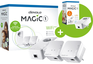 DEVOLO Magic 1 WiFi Mini Multiroom Kit + Magic 1 LAN Ergänzungsadapter Kit 1200 Mbit/s Kabellos und Kabelgebunden