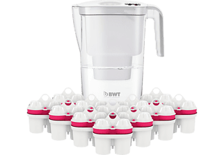 BWT 815534 Vida + 12 Filterkartuschen Wasserfilter, Weiß