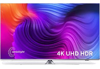 """TV LED 43"""" - Philips 43PUS8506/12, UHD 4K, P5, Ambilight, Dolby Vision, Atmos, Android TV, Control voz, Plata"""