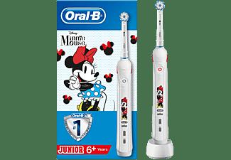 Cepillo eléctrico - Oral-B Junior, Con Tecnología De Braun, Recargable, Edición Minnie de Mickey Mouse, Blanco
