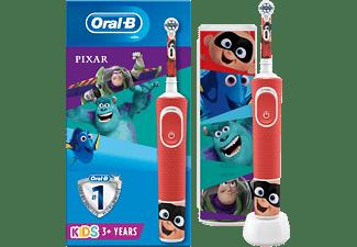 Cepillo eléctrico - Oral-B Kids Pixar, Para niños, 4 pegatinas de Disney Pixar, 3D + Estuche de viaje