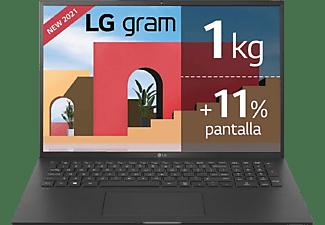 "Portátil - LG Gram 17Z90P-G.AD88B, 17"" WQXGA, Intel® Evo™ Core™ i7-1165G7, 32GB, 1TB SSD, Iris® Xe, Windows 10"