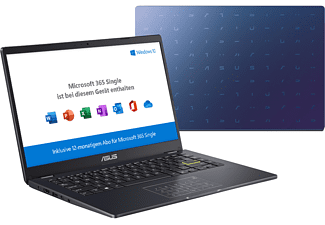 ASUS VivoBook E410MA-EK368TS, Notebook mit 14,0 Zoll Display, Intel® Celeron® Prozessor, 4 GB RAM, 128 GB SSD, Intel® UHD Graphics 600, Peacock Blue