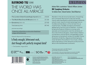 Watts,Andrew/Williams,Roderick/BBC Symphony Orch. - The World Was Once All Miracle  - (CD)