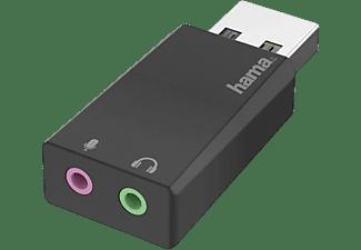 Adaptador - Hama 00200323, De USB 2.0 a 2x 3.5 mm Jack, Negro