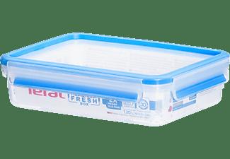 Tupper - Tefal MasterSeal K3021412, Envase hermético, 1.2L, Azul, Transparente