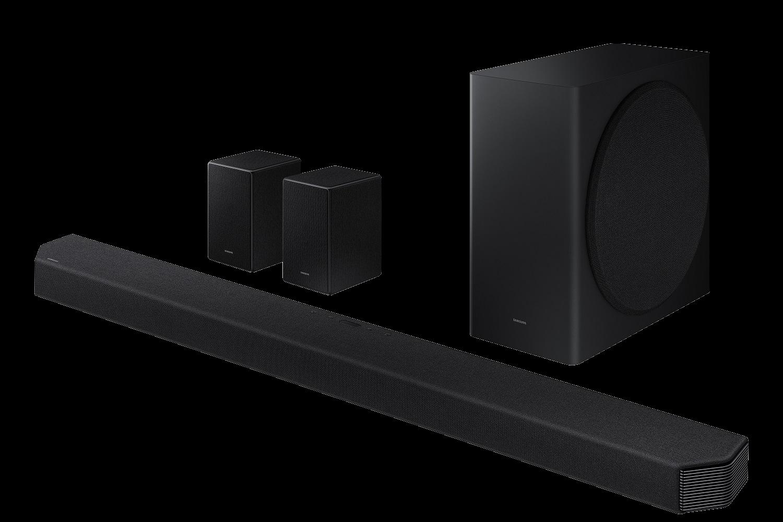 Barra de sonido - Samsung HW-Q950A, Inalámbrica, Con Subwoofer, 11.1.4 Canales, DTS:X, Dolby Atmos, Negro