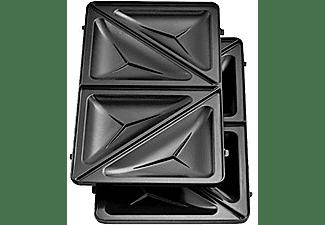Sandwichera - OK OSM 3211, Potencia 750W, 3 en 1 Grill/Sandwichera/Gofrera, Placas antiadherentes, Negro