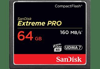 Tarjeta Compact Flash - SanDisk Extreme PRO, 64 GB, 160MB/s, VPG 65, UDMA 7, FHD y 4k, Negro