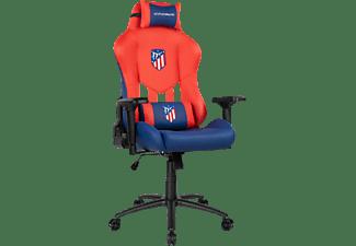 Silla gaming - Drift Atlético de Madrid - Special Edition, Inclinable 90-135º, Reposabrazos, Rojo/Azul