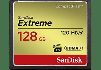 Tarjeta Compact Flash - SanDisk Extreme, 128 GB, 120 MB/s, VPG-20, UDMA 7, Full HD Video, Multicolor