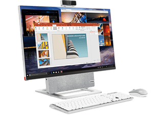 LENOVO All-in-One PC Yoga 7 27ARH6, R7-4800H, 16GB RAM, 512GB SSD, 1TB HDD, 27 Zoll 4K UHD, Silber