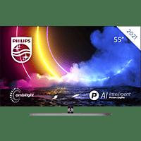 PHILIPS 55OLED856/12 OLED TV (Flat, 55 Zoll / 139 cm, UHD 4K, SMART TV, Ambilight, Android TV™ 10 (Q))
