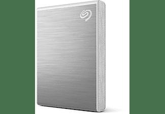 SEAGATE STKG500400 ONE TOUCH SSD, bis zu 1.030 MB/s, Festplatte, 1 TB SSD, 2,5 Zoll, extern, Silver