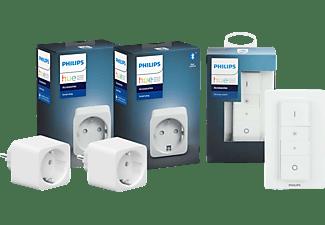 PHILIPS Hue Smart Plug 2-er Pack inkl. Hue Dimmschalter Set