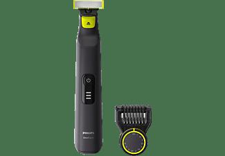 Afeitadora - Philips OneBlade QP6530/15, 5.4 W, 90 min, 12 Niveles, Resistente al agua, Negro