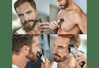 Afeitadora - Philips 7000 BG7020/15, Barba, cortapelos y cuerpo, 13 accesorios en uno, seco y húmedo, 120 min
