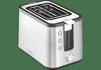 KRUPS KH442 Premium Toaster Control Line Toaster Edelstahl/Schwarz (720 Watt, Schlitze: 2)