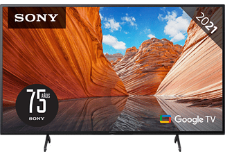 "TV LED 75"" - Sony KD75X81JAEP, UHD 4K, HDR, Smart TV (Google TV), X1, Triluminos, Control por voz, Negro"