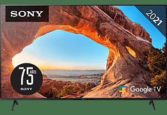 "TV LED 75"" - Sony KD75X85JAEP, UHD 4K, HDR, Google Tv, 120Hz, HDMI 2.1, X1, Triluminos, Control por voz, Negro"
