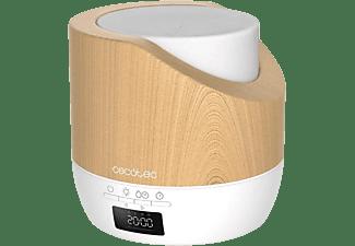 Humidificador - Cecotec PureAroma 500 Smart White Woody, 500 ml, 25 ml/h, 32 m², Luz LED, Temporizador, Blanco