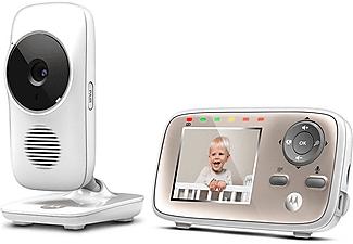 """Vigilabebés - Motorola MBP667, WiFi, LCD 2.8"""", Modo Eco, Alerta de movimiento, Sonido, Temperatura, Blanco"""