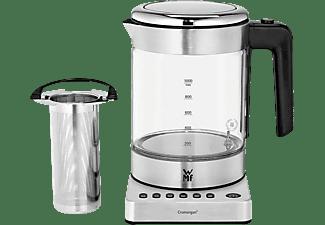 Hervidor de agua - WMF Kitchenminis, 1 l, 1960 W, Temperatura ajustable, Función tetera, Vidrio, Inox