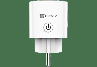 Enchufe inteligente - Ezviz T30-10A-EU, 2300 W, Amazon Alexa, Google Assistant, Wi-Fi, Blanco