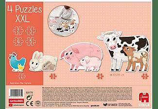 JUMBO Goula XXL-Puzzle Tiermütter und ihre Babys Kinderpuzzle Mehrfarbig