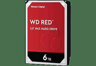 "Disco duro 6 TB - Western Digital WD Red NAS Hard Drive, 3.5"", SATA III, 6Gb/s, Interno, 5400 rpm, 64 MB, Rojo"