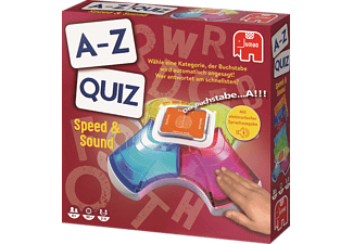 JUMBO Pim Pam Pet A-Z Quiz Speed & Sound Quiz-Kartenspiel Mehrfarbig