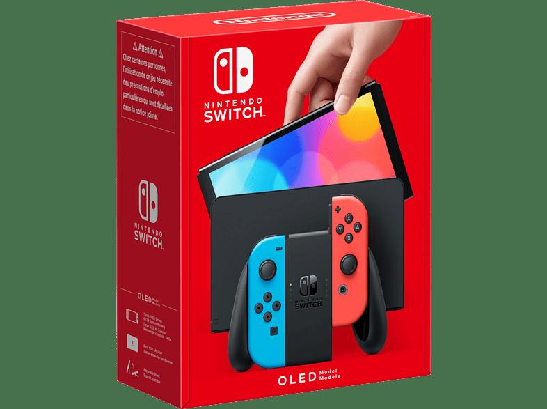 Nintendo Switch (OLED-Modell) - Neon-Blau/Neon-Rot/Schwarz
