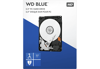 "Disco duro 1 TB - WD Blue Laptop, 2.5"", Interno, SATA II, 5400 rpm, 8 MB/s, 3 Gb/s, Azul"