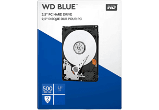 "Disco duro 500 GB - WD Blue Laptop, 2.5"", Interno, SATA II, 5400 rpm, 8 MB/s, 3 Gb/s, Azul"